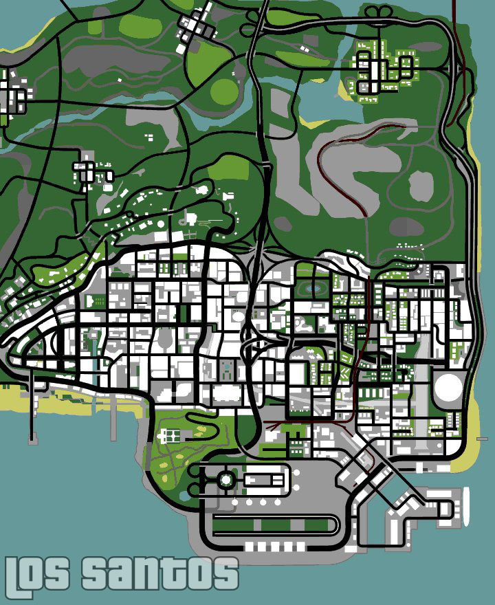 gta 5 map. gta san andreas map.